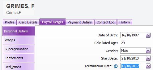 Termination Date